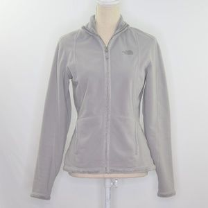The North Face Fleece Lined Gray Zip Up Jacket